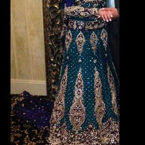 Beautiful fully beaded Indian gown! Worn once!